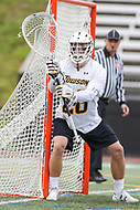 Towson, MD - May 6, 2017: Towson Tigers Matt Hoy (28) in action during game between Towson and UMASS at  Minnegan Field at Johnny Unitas Stadium  in Towson, MD. May 6, 2017.  (Photo by Elliott Brown/Media Images International)