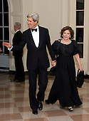 United States Senator John F. Kerry (Democrat of Massachusetts) and Teresa Heinz Kerry, arrive for the Official Dinner in honor of Prime Minister David Cameron of Great Britain and his wife, Samantha, at the White House in Washington, D.C. on Tuesday, March 14, 2012..Credit: Ron Sachs / CNP.(RESTRICTION: NO New York or New Jersey Newspapers or newspapers within a 75 mile radius of New York City)