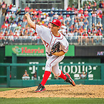 14 May 2016: Washington Nationals starting pitcher Stephen Strasburg on the mound during the first game of a double-header against the Miami Marlins at Nationals Park in Washington, DC. The Nationals defeated the Marlins 6-4 in the afternoon matchup. Strasburg allowed three earned runs on five hits in 6.0 innings of work. He struck out seven and walked three batters. With the win, Strasburg improved his record to 6-0, his best start of a season in his career. In addition, he became the first player in Nationals/Expos history to start a season 6-0 since Expo Pedro Martinez went 8-0 to begin the 1997 season. Mandatory Credit: Ed Wolfstein Photo *** RAW (NEF) Image File Available ***