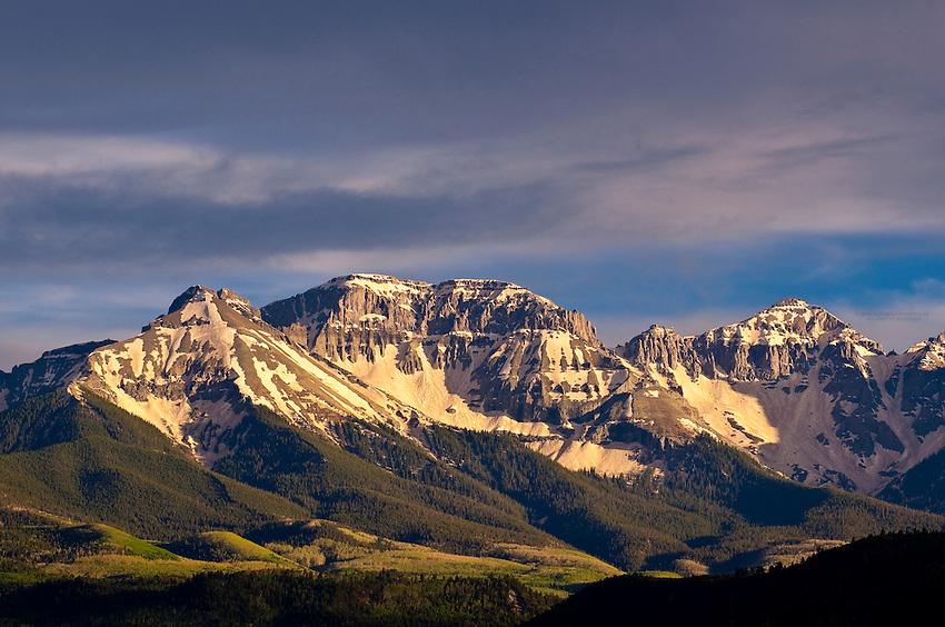 Sneffels Range seen from Ridgway, Colorado USA