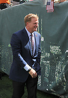 East Rutherford, NJ- Sept 11: Roger Goodell Commissioner of the National Football League , On the sides lines during the New York Jets vs Cincinnati Bengals  game at MetLife Stadium on September 11,2016 in East Rutherford, New Jersey.@John Palmer / Media Punch