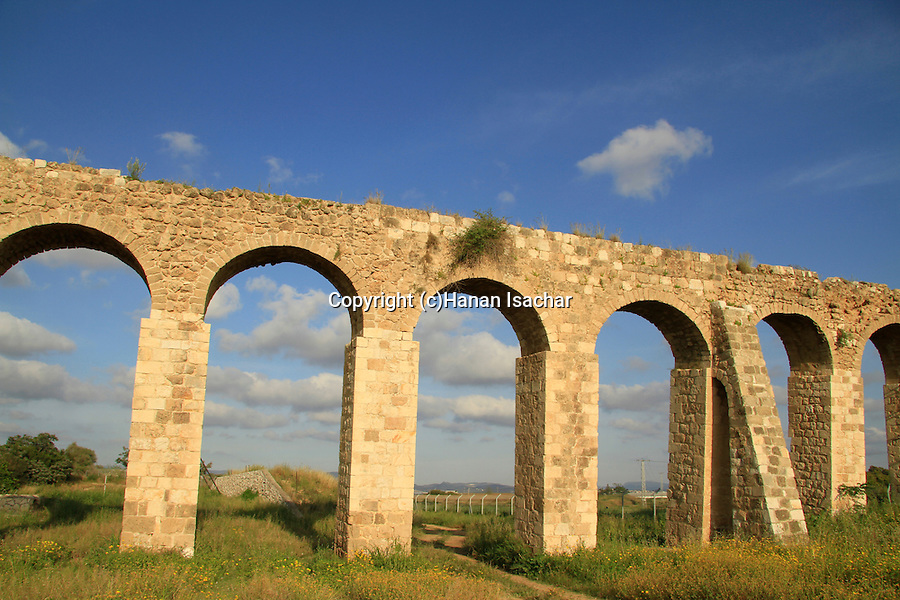 The 200 year old Ottoman aqueduct, supplied water from Cabri springs to Acco