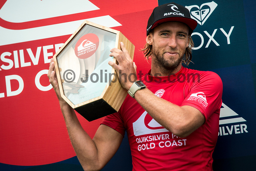 COOLANGATTA, Queensland/AUS (Sunday, March 18, 2017) Matt Wilkinson (AUS) - The Quiksilver Pro continued today with the completion of Round 3, Round 4 and  Round 5. There were some upsets along the way with the elimination of Mike Fanning (AUS), Adriano de Souza (BRA) and Jordy Smith (ZAF). On the positive side Owen Wright (AUS) continued his comeback from and Rookie Conner O'Leary (AUS) continued his winning run.   Photo: joliphotos.com