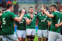 Sean O'Connor of Ireland U20 looks on in a post-match huddle. World Rugby U20 Championship match between New Zealand U20 and Ireland U20 on June 11, 2016 at the Manchester City Academy Stadium in Manchester, England. Photo by: Patrick Khachfe / Onside Images