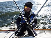 Captain of the Obtuse Chris Charbonneau  Captain of the Obtuse takes a crew out on Chesapeake Bay  to collect water and sediment samples.<br /> Executive director of Trash Free Maryland, Julie Lawson, organized a 4 day expedition of Chesapeake Bay. Lawson brought together plastic pollution experts, educators, policy advocates, environmentalists and journalists to collect water and sediment samples and study the Chesapeake Bay waterway. <br /> <br /> <br /> PHOTOS/John Nelson