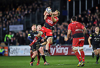 Duane Vermeulen of Toulon claims the ball in the air. European Rugby Champions Cup match, between Bath Rugby and RC Toulon on January 23, 2016 at the Recreation Ground in Bath, England. Photo by: Patrick Khachfe / Onside Images