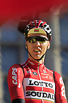 Marcel Sieberg (GER) Lotto-Soudal team on stage at sign on before the 101st edition of the Tour of Flanders 2017 running 261km from Antwerp to Oudenaarde, Flanders, Belgium. 26th March 2017.<br /> Picture: Eoin Clarke | Cyclefile<br /> <br /> <br /> All photos usage must carry mandatory copyright credit (&copy; Cyclefile | Eoin Clarke)