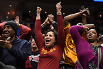 MILWAUKEE, WI - MARCH 18: Iowa State Cyclones fans cheer a second half comeback during the 2017 NCAA Men's Basketball Tournament held at BMO Harris Bradley Center on March 18, 2017 in Milwaukee, Wisconsin. (Photo by Jamie Schwaberow/NCAA Photos via Getty Images)