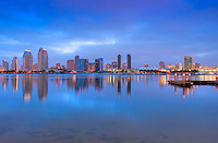 San Diego California, Downtown, Skyline, Twilight, Panorama