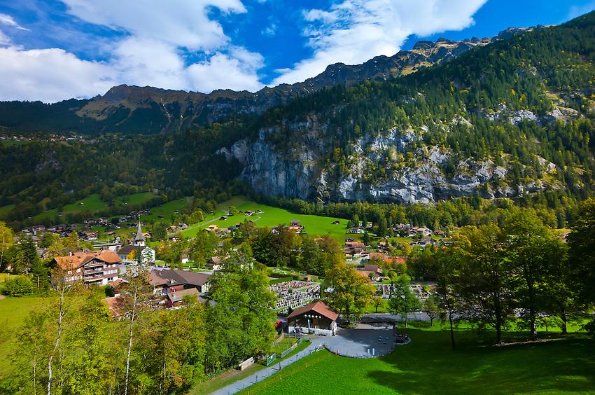 Lauterbrunnen, Lauterbrunnen Valley, Canton Bern, Switzerland