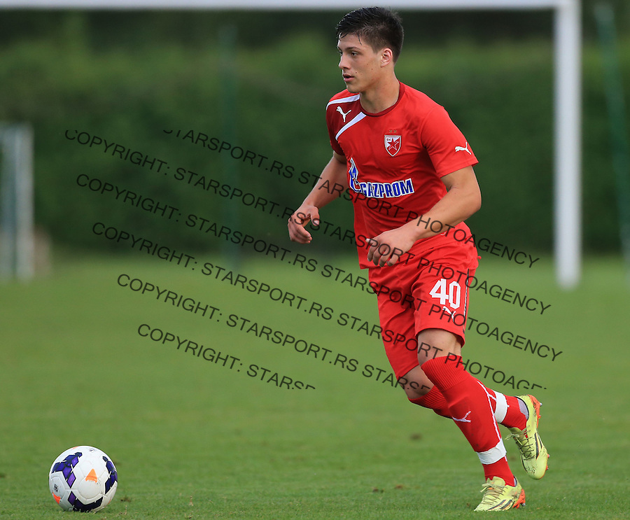 Fudbal season 2013-2014<br /> FK Crvena Zvezda pripreme<br /> Prijateljski mec<br /> Crvena Zvezda v Verzej<br /> Luka Jovic<br /> Brezice, 07.09.2014.<br /> foto: Srdjan Stevanovic/Starsportphoto &copy;