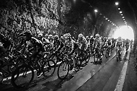 Kiel Reijnen (USA/Trek-Segafredo) in the peloton through the Capo Noli tunnel<br /> <br /> 108th Milano - Sanremo 2017