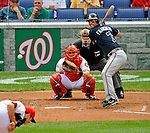 12 April 2008: Atlanta Braves' outfielder Jeff Francoeur at bat against the Washington Nationals at Nationals Park, in Washington, DC. The Braves defeated the Nationals 10-2...Mandatory Photo Credit: Ed Wolfstein Photo