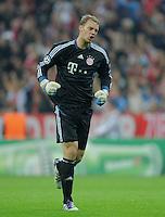 FUSSBALL   CHAMPIONS LEAGUE   SAISON 2011/2012     27.09.2011 FC Bayern Muenchen - Manchester City JUBEL; Torwart Manuel Neuer (FC Bayern Muenchen)