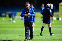 Bath Rugby Head Coach Mike Ford looks on during the pre-match warm-up. Aviva Premiership match, between Bath Rugby and Sale Sharks on April 23, 2016 at the Recreation Ground in Bath, England. Photo by: Patrick Khachfe / Onside Images