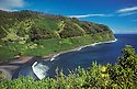 Honomanu Bay and the Hana Highway; Hana Coast, Maui, Hawaii.