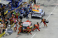 30 March - 1 April, 2012, Martinsville, Virginia USA.Clint Bowyer, pit stop.(c)2012, Scott LePage.LAT Photo USA