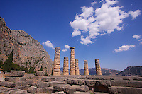 The Temple of Apollo at Delphi - better known as home to the Oracle of Delphi in the Ancient world.