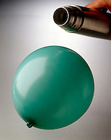 CHARLES' LAW: INFLATED BALLOON AT ROOM TEMPERATURE<br />
