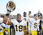 University of Michigan football 28-24 victory over  Notre Dame 28-24 at Notre Dame Stadium in South Bend, IN, on September 11, 2010.