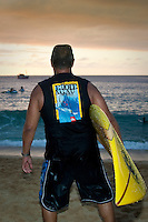 Clyde Aikau (HAW)  HALEIWA, HI Dec. 1, 2005 The opening ceremony of the Quiksilver in Memory of Eddie Aikau was held today at Waimea Bay. This year's event  will be held on one day , between December 1, 2005 and February 28, 2006, when the waves eceed the  20 foot  minimum threshold and the 28 invitees will compete for the $98.000 prize purse...The northern hemisphere winter months on the North Shore signal a concentration of surfing activity with some of the best surfers in the world taking advantage of swells originating in the stormy Northern Pacific. Notable North Shore spots include Waimea Bay, Off The Wall, Backdoor, Log Cabins, Rockpiles and Sunset Beach... Ehukai Beach is more  commonly known as Pipeline and is the most notable surfing spot on the North Shore. It is considered a prime spot for competitions due to its close proximity to the beach, giving spectators, judges, and photographers a great view...The North Shore is considered to be one the surfing world's must see locations and every December hosts three competitions, which make up the Triple Crown of Surfing. The three men's competitions are the Reef Hawaiian Pro at Haleiwa, the O'Neill World Cup of Surfing at Sunset Beach, and the Billabong Pipeline Masters. The three women's competitions are the Reef Hawaiian Pro at Haleiwa, the Gidget Pro at Sunset Beach, and the Billabong Pro on the neighboring island of Maui...Photo: Joliphotos.com