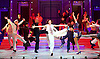 Anything Goes <br /> at the New Wimbledon Theatre, London, Great Britain <br /> press photocall<br /> 30th January2015 <br /> <br /> Debbie Kurup as Reno Sweeney <br /> <br /> and<br /> company <br /> <br /> <br /> <br /> Photograph by Elliott Franks <br /> Image licensed to Elliott Franks Photography Services