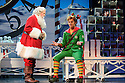THE MUSICAL opens at the Dominion Theatre, Tottenham Court Road. Picture shows: Mark McKerracher (Santa) and Ben Forster (Buddy)