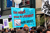 Thousands march against Conseratives, angry over Conserative gouverment policies.  Artists, unions and social groups marched in downtown Montreal. One major issue is the governments cuts to the arts and culture...Artistes, syndicats et groupe sociaux manifeste contre les politiques Conservatrice de Stephen Harper. Plus de 5,000 personnes sont rassemblées au centre-ville de Montreal.