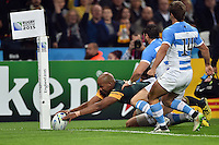 JP Pietersen of South Africa reaches for the try-line. Rugby World Cup Bronze Final between South Africa and Argentina on October 30, 2015 at The Stadium, Queen Elizabeth Olympic Park in London, England. Photo by: Patrick Khachfe / Onside Images