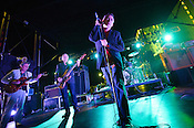 September 7, 2012. Raleigh, NC. The Jesus and Mary Chain performs at the Raleigh City Plaza as part of the 2012 Hopscotch Music Festival in Raleigh, NC.
