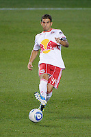 Carlos Mendes (44) of the New York Red Bulls. The New York Red Bulls and the Vancouver Whitecaps played to a 1-1 tie during a Major League Soccer (MLS) match at Red Bull Arena in Harrison, NJ, on September 10, 2011.
