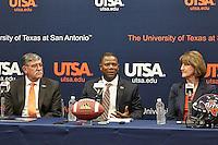 SAN ANTONIO, TX - JANUARY 15, 2016: The introduction of new University of Texas at San Antonio Roadrunners Head Football Coach Frank Wilson at the H-E-B University Center, Bexar Room. (Photo by Jeff Huehn)