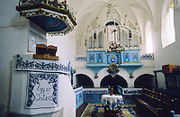 Inside of a Saxon Unesco World Heritage Church at Dariju ( Szekelyderz ) Transylvania, Romania