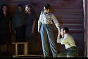 Les Arts Florissants present, DAVID ET JONATHAS, at the Festival Theatre, as part of the Edinburgh International Festival. Picture shows: Ana Quintans (standing; as Jonathas) and Pascal Charbonneau (kneeling; as David).