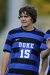14 September 2012: Duke's Zach Mathers. The Duke University Blue Devils defeated the Clemson University Tigers 2-0 at Koskinen Stadium in Durham, North Carolina in a 2012 NCAA Division I Men's Soccer game.
