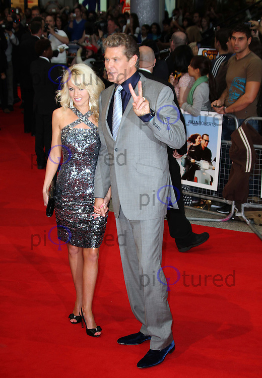 David Hasselhoff; Hayley Roberts Larry Crowne World Premiere, Westfield Shopping Centre, West London, UK, 06 June 2011:  Contact: Rich@Piqtured.com +44(0)7941 079620 (Picture by Richard Goldschmidt)