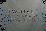 Twinkle By Wenlan Spring 2011 Presetation, New York 9/12/10