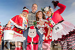 Pictured at the Santa Fun Run, in aid of Barretstown, starting from the Tralee Bay Wetlands, on Sunday last, were l-r: Marilyn O'Shea, Stephen Byrne, Cilla Beer and Ashley O'Shea.