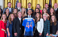 USWNT White House Visit, October 27, 2015