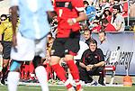 14 November 2010: Maryland head coach Sasho Cirovski. The University of Maryland Terrapins defeated the University of North Carolina Tar Heels 1-0 at WakeMed Soccer Park in Cary, North Carolina in the ACC Men's Soccer Tournament Championship game.