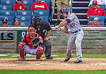 26 July 2013: New York Mets catcher Anthony Recker in action against the Washington Nationals at Nationals Park in Washington, DC. The Mets shut out the Nationals 11-0 in the first game of their day/night doubleheader. Mandatory Credit: Ed Wolfstein Photo *** RAW (NEF) Image File Available ***