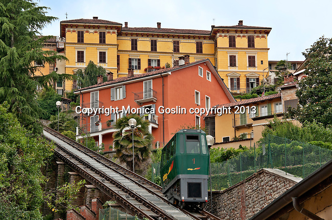 Funnicular to the medieval village of Piazzo that dates back to 1160