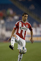 Chivas USA midfielder Mariano Trujillo (8) traps the ball. Chivas USA defeated the New England Revolution, 4-0, at Gillette Stadium on May 5, 2010.