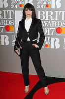 Imelda May at The BRIT Awards 2017 at The O2, Peninsula Square, London on February 22nd 2017<br /> CAP/ROS<br /> &copy; Steve Ross/Capital Pictures /MediaPunch ***NORTH AND SOUTH AMERICAS ONLY***