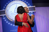 United States President Barack Obama and first lady Michelle Obama dance together during the Inaugural Ball at the Walter Washington Convention Center January 21, 2013 in Washington, DC. President Obama started his second term by taking the Oath of Office earlier in the day during a ceremony on the West Front of the U.S. Capitol..Credit: Chip Somodevilla / Pool via CNP