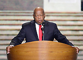 United States Representative John Lewis (Democrat of Georgia) makes remarks at the 2012 Democratic National Convention in Charlotte, North Carolina on Thursday, September 6, 2012.  .Credit: Ron Sachs / CNP.(RESTRICTION: NO New York or New Jersey Newspapers or newspapers within a 75 mile radius of New York City)