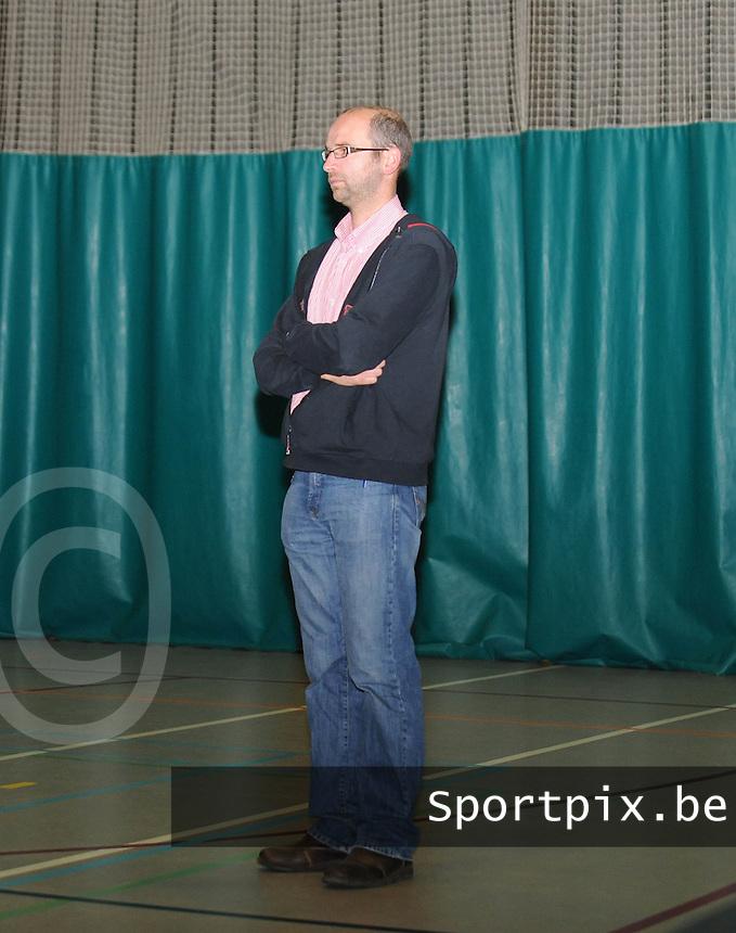 Marke Webis heren 1e divisie : coach Steve Melsens.foto VDB / BART VANDENBROUCKE
