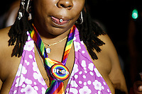 New York, USA. 28 June 2014. A woman takes part in the gay pride parade 2014 in New York. Photo by Eduardo MunozAlvarez/VIEWpress