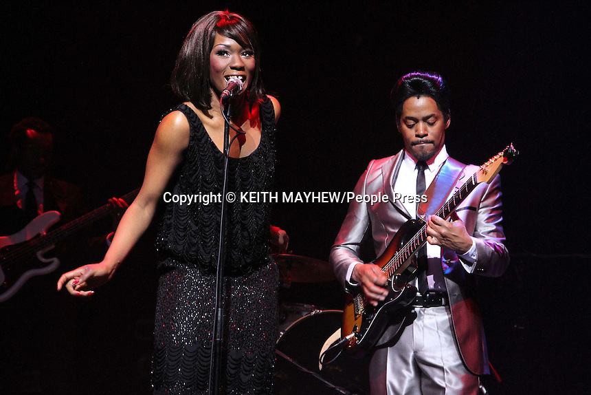 London - Emi Wokoma (Tina Turner) & Chris Tummings (Ike Turner) in the musical 'Soul Sister' at the Hackney Empire, London - April 17th 2012..Photo by Keith Mayhew