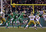 (Boston, MA, 11/21/15) Notre Dame Fighting Irish quarterback DeShone Kizer passes the ball against Boston College during the second quarter as Notre Dame hosts Boston College at Fenway Park in Boston on Saturday, November 21, 2015. Photo by Christopher Evans
